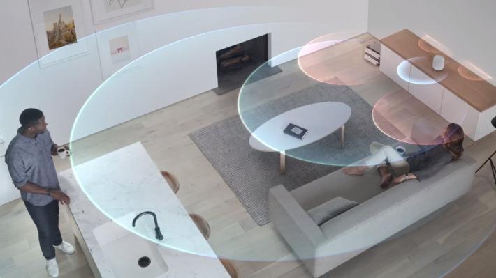 無論將 HomePod 放在房間的什麼位置,它都可以好好發揮。
