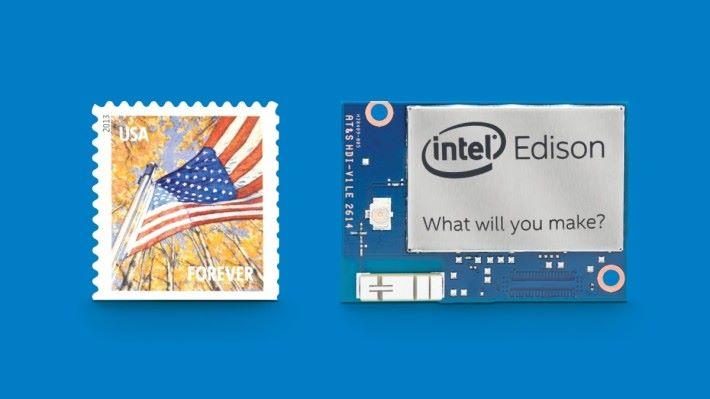 只有郵票大小的 Edison 模組