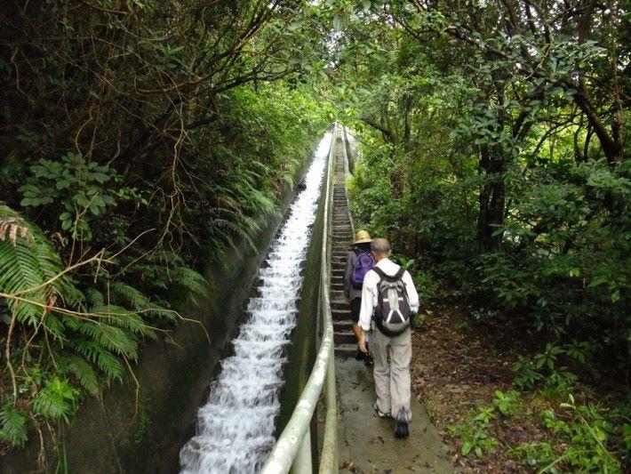 平常我們行山所見的引水,也用上同樣的原理。