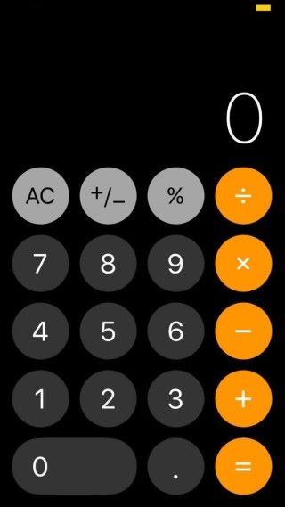 計數機按鍵係變了圓形