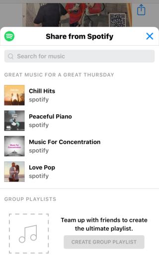 對方即使沒有不是 Spotify用戶亦可在當中搜尋及加入歌曲