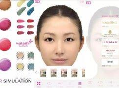 Shiseido 出「愈化愈醜」化妝 App (〒︿〒)