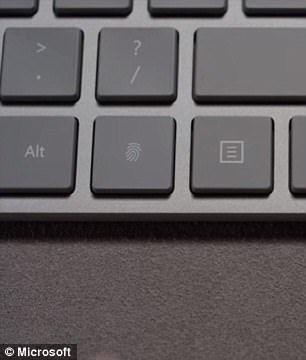 在 Alt 鍵旁邊的指紋辨識按鈕。