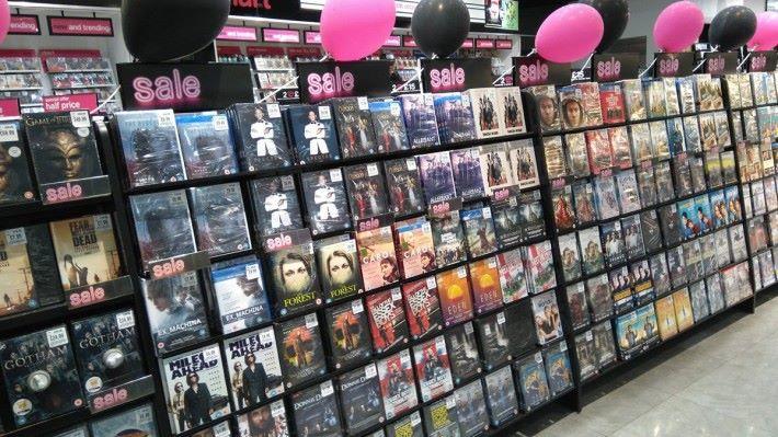 電影光碟的銷量正不斷下跌。
