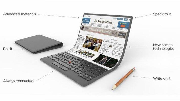 Lenovo 對未來電腦的構想圖。