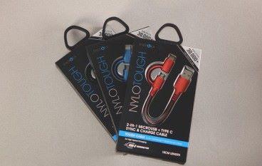 ENERGEA NYLOTOUGH MicroUSB + USB-C 充電線