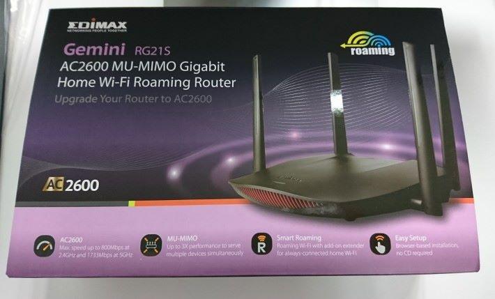Edimax Gemini RG21S Router 包裝盒。