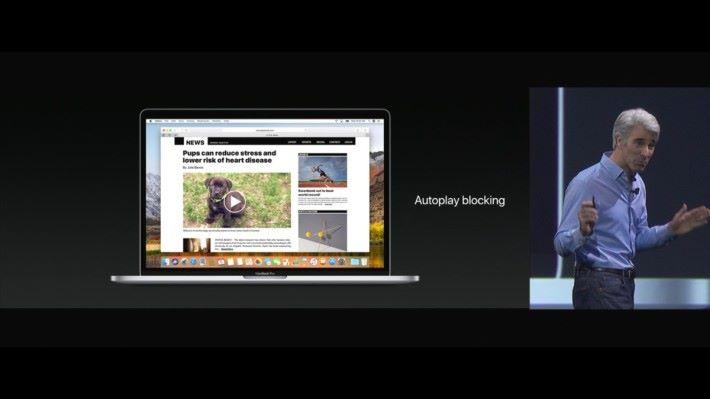 Safari 加入避免網頁突然播片功能