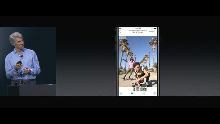Live Photo 編輯功能,讓大家可以擷取 某一格畫面當相片。