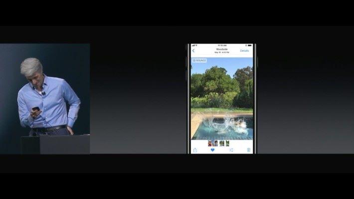 iOS 11 加入讓 Live Photo 不斷重播,甚至玩倒帶等等不同後製特效。