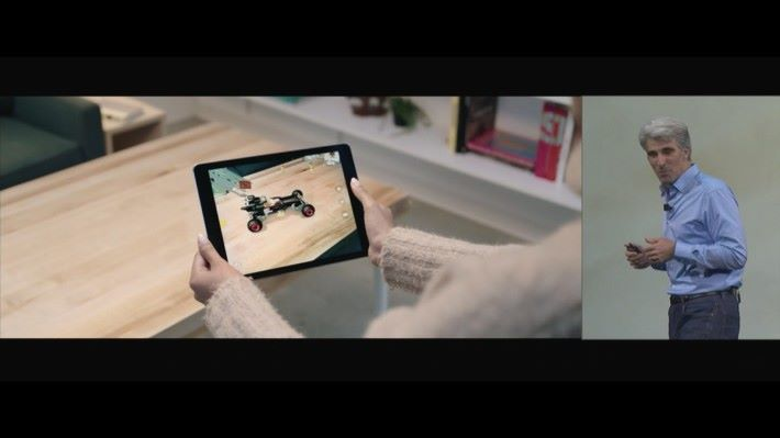 雖然和 Google Tango 相比,iOS 的 AR 應用還是在起步階段,但憑著使用 iOS 裝置在市場的普及程度,相信會更有助 AR 應用的推廣。