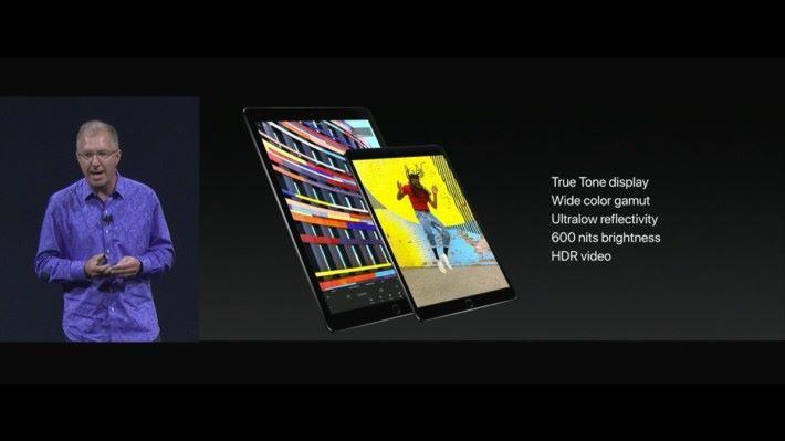 新 iPad Pro 屏幕亮度升至 600 尼特,更支援 HDR 影片播放。