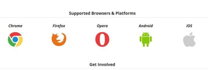 當代 5 大瀏覽器中,4 個都支援 WebRTC