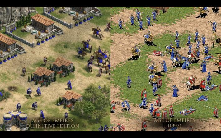 AOE Definitive Edition 重點是將畫質提升至 4K 影像。