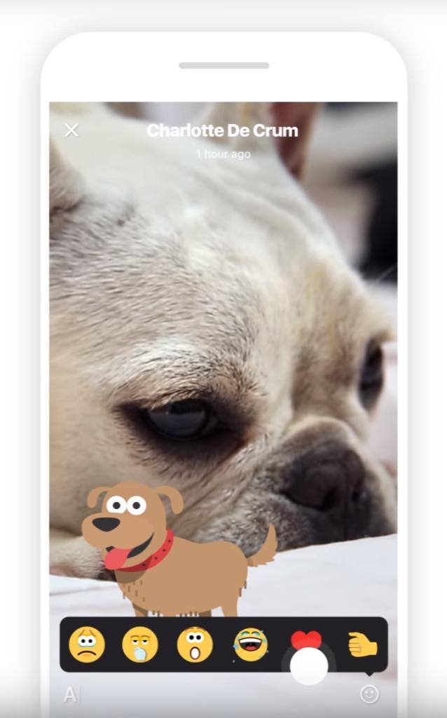 可在 Skype 內的限時動態內加上圖案貼紙。