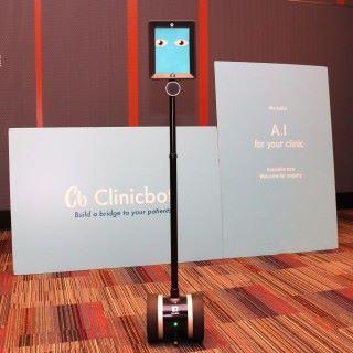 科技園另一培育創業公司 Clinicbot,是嵌入式 人工智能的示範。