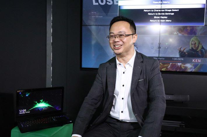 3 香港業務總裁陳保華接受訪問時表示,遊戲市場對電訊商來說極具潛力,遊戲玩家對網絡有高質素的要求,他們認為可帶動網絡數據用量,與 Razer 合作也可使品牌更年青化。