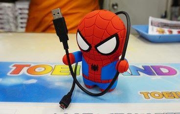 只要可愛就夠了 蜘蛛俠 Ironman 流動充電池