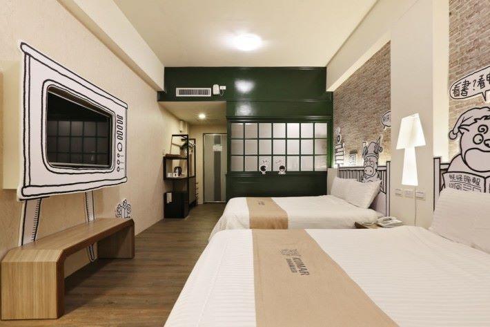 可惜飯店房間沒有妖怪風格。