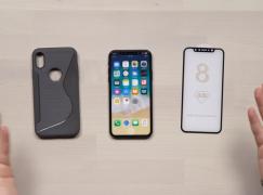 屏幕貼機套到齊 iPhone 8 Demo 機率先睇