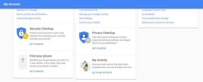 在 Google 會有尋找電話的功能。