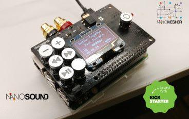 港產樹莓批 Hi-Fi DAC NanoSound 屏幕按鈕解碼三合一