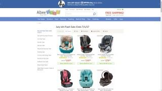 Albeebaby July 4th Flash Sale