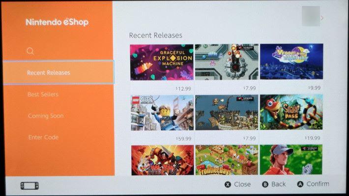 Step 1. 美國區的 eShop 版面設計,基本上與日本區 eShop 沒有分別,可是收錄遊戲作品有明顯出入,內裡較多是獨立遊戲廠商作品,甚至有最新的 LEGO 系列可供選購。