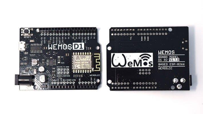WEMOS D1 微控制器用作連接無線網絡。