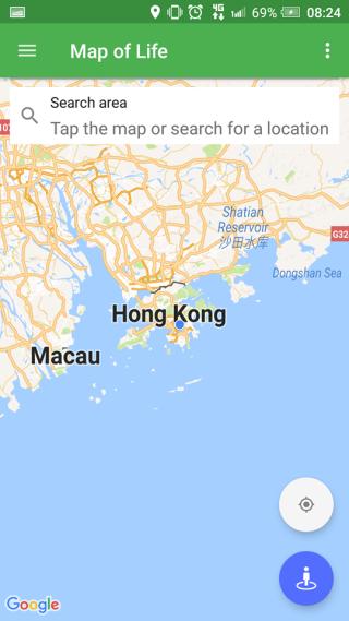 在地圖上或用GPS找到香港後,就可以知道香港周邊存在的野生生物。