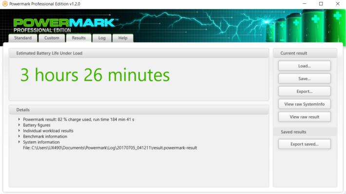 Powermark Balance Benchmark 測出接近 3.5 小時續航力,不算突出。