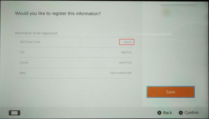 Step 3. 系統會要求用戶輸入「 Zip code 」作登記,這裡輸入免稅地區的 Zip Code 就可以享有免稅。好像小記就以新罕布什爾州的 Bristol ,填上「 03222 」進行登記。
