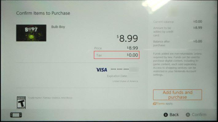 Step 4. 大家可以看到紅框處註明稅金是 0.00 ,證明免稅 Zip code 有效。如果確認金額和信用卡資料後,可以按右下角的按鈕購買不足的點數。
