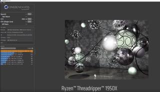 Threadripper 1950X 在 Cinebench 跑分獲得 3062 分,成積超卓。