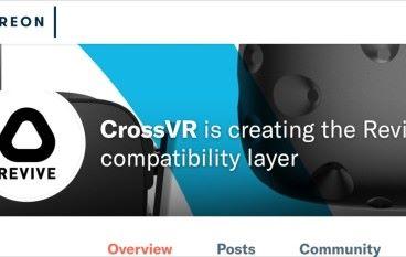 Oculus 前 CEO 捐款予 Revive VR 支持在 Vive 上玩 Oculus 遊戲