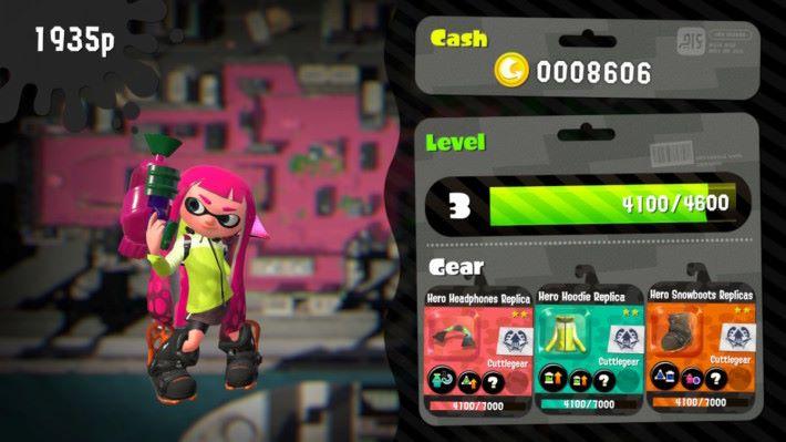 玩家贏出賽事之後,經驗值可以提升角色等級,裝備則會提升熟練值解鎖技能。