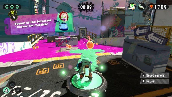 墨水火箭炮能做出長距離油墨帶,玩家可製造通道進行快速的移動。