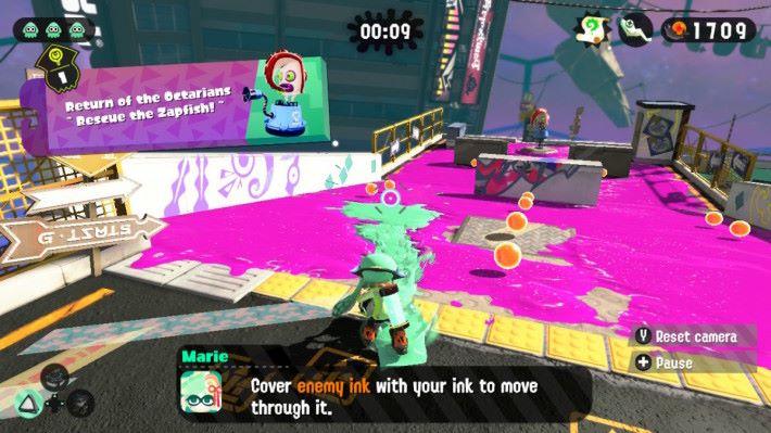 油漆潑桶的飛濺距離,還有油漆的集中程度,完全視乎玩家瞄準的角度。