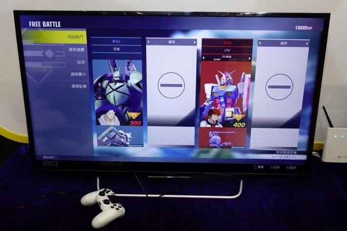 最新的《Gundam Versus》也可以在現場試玩