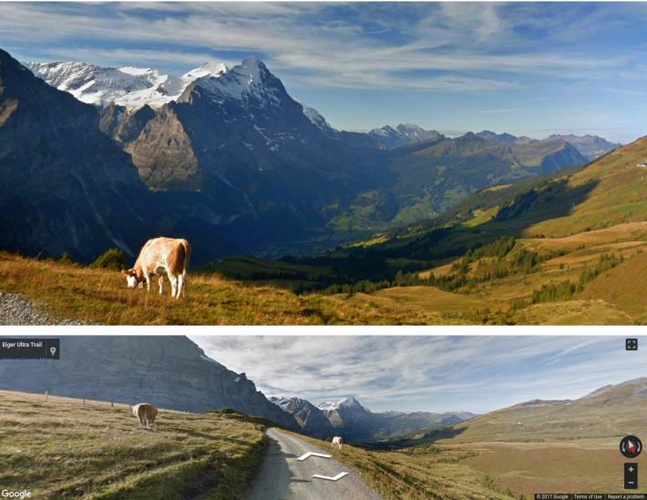 可以比較 Google AI 從圖下的地圖中「後製」圖像後,可以有多美。