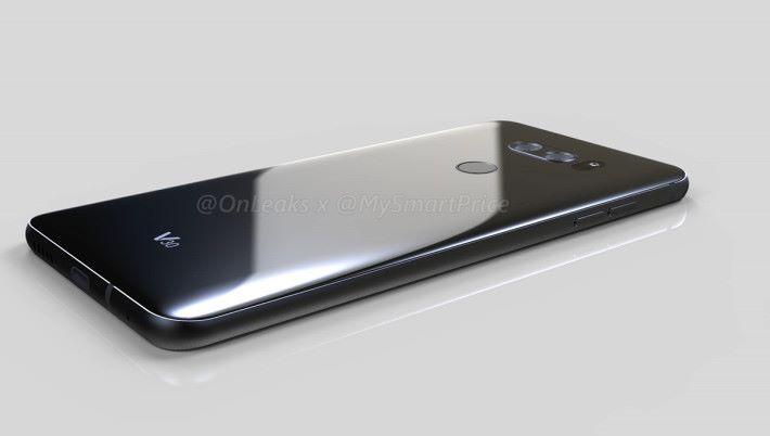 機背用上類似 G6 的設計,除了更大的屏幕,看來 V30 也是同 G6 走同一個風格。