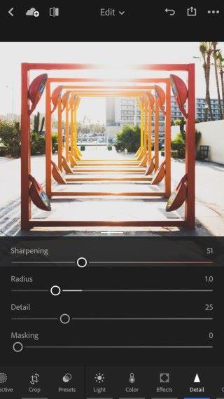 新增了雜訊控制、銳利度這些影像質素的細節設定。
