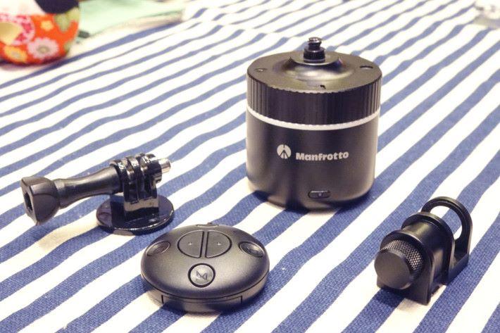PIXI Pano 360 有各項小配件,方便接上各攝錄器材。