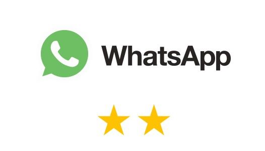 WhatsApp 只得二星,顯示保障私隱方面未能達標
