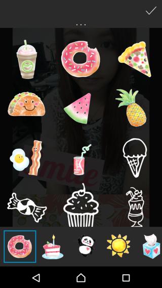 甜美系貼圖絕不輸給日本修圖 App。