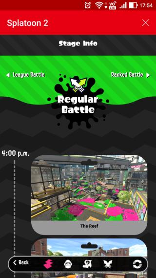 用戶利用《Nintendo Switch Online》內置的 Splat Net 2,可以查看對線上對戰資訊,知道未來 24 小時的賽制與場地。
