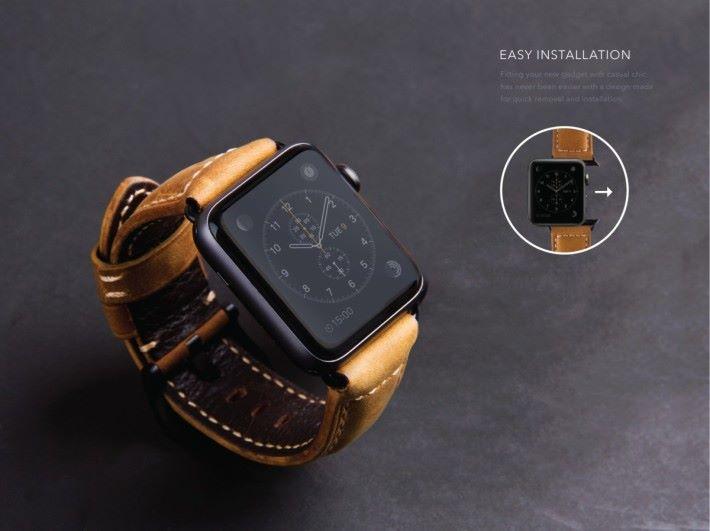 軍事風的設計,令 Apple Watch 亦添上幾分硬朗。