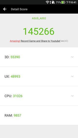 使用 AnTuTu 6 進行測試,得分為 145,266,雖然不及 S835 處理器的手機,但已是十分不錯。