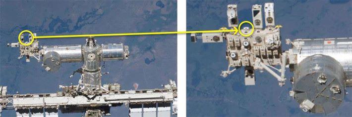 JAXA 人員將相機安裝在太空站外然後進行拍攝。