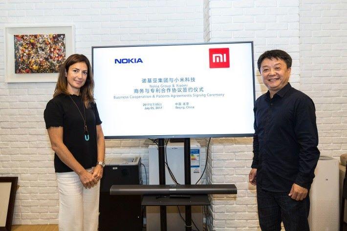 Nokia 和小米簽署合作協定。